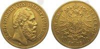 Württemberg 10 Mark Gold Karl 1864-1891.