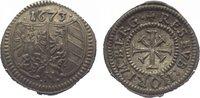 Nürnberg, Stadt Kreuzer 1673 Vorzüglich  45,00 EUR  zzgl. 5,00 EUR Versand