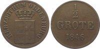 Oldenburg Cu 1/2 Grote 1846 Sehr schön Paul Friedrich August 1829-1853. 15,00 EUR  zzgl. 5,00 EUR Versand