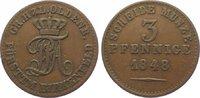 Oldenburg Cu 3 Pfennig 1848 Sehr schön Paul Friedrich August 1829-1853. 20,00 EUR  zzgl. 5,00 EUR Versand