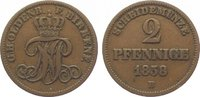 Oldenburg Cu 2 Pfennig 1858  B Sehr schön Nicolaus Friedrich Peter 1853-... 15,00 EUR  zzgl. 5,00 EUR Versand