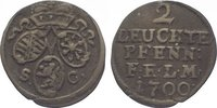 2 leuchte Pfennig 1700  SC Sachsen-Eisenach Johann Wilhelm 1698-1729. S... 185,00 EUR  zzgl. 5,00 EUR Versand