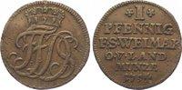 Sachsen-Weimar-Eisenach Cu Pfennig 1754 Sehr schön Friedrich III. von Go... 15,00 EUR  zzgl. 5,00 EUR Versand