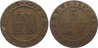 Westfalen, Königreich Cu 5 Centimes 1812  C Sehr schön Hieronymus Napole... 10,00 EUR  zzgl. 5,00 EUR Versand