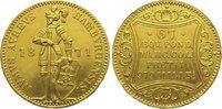 Hamburg, Stadt Dukat Gold 1871  B Kl. Randfehler, vorzüglich  525,00 EUR kostenloser Versand