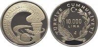 10000 Lira (10 Bin Lira) 1988 Türkei Republik. Polierte Platte  19,00 EUR  zzgl. 5,00 EUR Versand