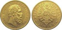 20 Mark Gold 1876  F Württemberg Karl 1864-1891. Winz. Randfehler, fast... 425,00 EUR kostenloser Versand