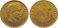 20 Francs Gold 1866  A Frankreich Napoleon III. 1852-1870. Fast vorzügl... 285,00 EUR kostenloser Versand