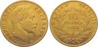 10 Francs Gold 1866  BB Frankreich Napoleon III. 1852-1870. Sehr schön +  140,00 EUR  zzgl. 5,00 EUR Versand