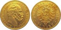 20 Mark Gold 1884  A Preußen Wilhelm I. 1861-1888. Winz. Randfehler, se... 295,00 EUR kostenloser Versand