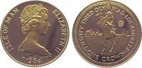 Crown Gold 1984 Großbritannien-Isle of Man Elizabeth II. Polierte Platte  95,00 EUR  zzgl. 5,00 EUR Versand