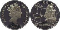 5 Dollars 1996 Neuseeland Elizabeth seit 1952. Polierte Platte  29,00 EUR  zzgl. 5,00 EUR Versand