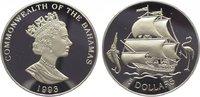 5 Dollars 1993 Bahamas  Polierte Platte  19,00 EUR  zzgl. 5,00 EUR Versand