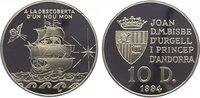 10 Diners 1994 Andorra  Polierte Platte  29,00 EUR  zzgl. 5,00 EUR Versand
