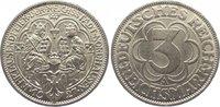 3 Mark 1927  A Weimarer Republik  Vorzüglich  125,00 EUR  zzgl. 5,00 EUR Versand