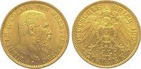 20 Mark Gold 1905  F Württemberg Wilhelm II. 1891-1918. Vorzüglich +  425,00 EUR kostenloser Versand