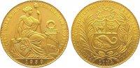 100 Soles Gold 1959 Peru Republik seit 1821/1825. Vorzüglich - Stempelg... 2150,00 EUR kostenloser Versand