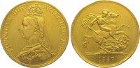 Five Pounds Gold 1887 Großbritannien Victoria 1837-1901. Randfehler, se... 2350,00 EUR kostenloser Versand