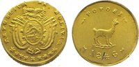 1/2 Escudo Gold 1846 Bolivien Republik sei...