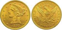 5 Dollars Gold 1893 Vereinigte Staaten von Amerika  Vorzüglich  375,00 EUR kostenloser Versand