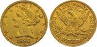 5 Dollars Gold 1880 Vereinigte Staaten von Amerika  Sehr schön  320,00 EUR kostenloser Versand