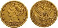 5 Dollars Gold 1902  S Vereinigte Staaten von Amerika  Sehr schön  320,00 EUR kostenloser Versand