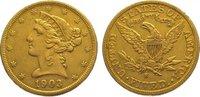 5 Dollars Gold 1903  S Vereinigte Staaten von Amerika  Sehr schön  320,00 EUR kostenloser Versand