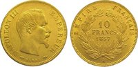 10 Francs Gold 1857  A Frankreich Napoleon III. 1852-1870. Sehr schön -... 145,00 EUR  zzgl. 5,00 EUR Versand