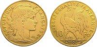 10 Francs Gold 1906  A Frankreich Dritte Republik 1870-1940. Sehr schön  135,00 EUR  zzgl. 5,00 EUR Versand