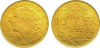 10 Franken Gold 1922  B Schweiz-Eidgenossenschaft  Vorzüglich  145,00 EUR  zzgl. 5,00 EUR Versand