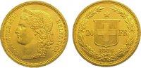 20 Franken Gold 1886 Schweiz-Eidgenossenschaft  Vorzüglich  295,00 EUR kostenloser Versand