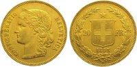 20 Franken Gold 1895  B Schweiz-Eidgenossenschaft  Sehr schön - vorzügl... 275,00 EUR kostenloser Versand