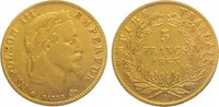 5 Francs Gold 1863  A Frankreich Napoleon III. 1852-1870. Sehr schön  135,00 EUR  zzgl. 5,00 EUR Versand