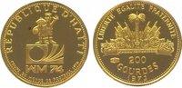 200 Guerdes Gold 1973 Haiti Republik nach 1863. Polierte Platte  125,00 EUR  zzgl. 5,00 EUR Versand