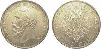 5 Mark 1876  G Baden Friedrich I. 1856-1907. In dieser Erhaltung äußers... 4850,00 EUR kostenloser Versand