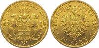 20 Mark Gold 1878  J Hamburg  Vorzüglich +  425,00 EUR kostenloser Versand