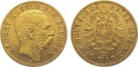 10 Mark Gold 1879  E Sachsen Albert 1873-1902. Sehr schön  295,00 EUR kostenloser Versand