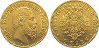 10 Mark Gold 1877  F Württemberg Karl 1864-1891. Winz. Randfehler, vorz... 325,00 EUR kostenloser Versand