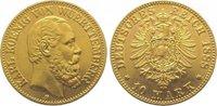 10 Mark Gold 1888  F Württemberg Karl 1864-1891. Vorzüglich  425,00 EUR kostenloser Versand