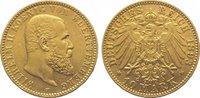 10 Mark Gold 1893  F Württemberg Wilhelm II. 1891-1918. Sehr schön - vo... 255,00 EUR kostenloser Versand