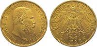 20 Mark Gold 1894  F Württemberg Wilhelm II. 1891-1918. Vorzüglich  395,00 EUR kostenloser Versand
