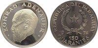150 Guaranies 1974 Paraguay  Polierte Platte  59,00 EUR  zzgl. 5,00 EUR Versand