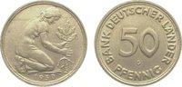 50 Pfennig 1950  G Bundesrepublik Deutschland  Winz. Randfehler, vorzüg... 365,00 EUR kostenloser Versand