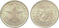10 Centavos 1949 Kuba (Cuba) Republik seit 1902. Vorzüglich - Stempelgl... 15,00 EUR  zzgl. 5,00 EUR Versand
