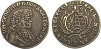 1/6 Taler 1675  CR Sachsen-Albertinische Linie Johann Georg II. 1656-16... 325,00 EUR kostenloser Versand