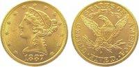 5 Dollars Gold 1887  S Vereinigte Staaten von Amerika  Vorzüglich  375,00 EUR kostenloser Versand