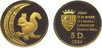 5 Diners Gold 1994 Andorra  Polierte Platte  79,00 EUR  zzgl. 5,00 EUR Versand