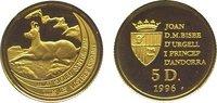 5 Diners Gold 1996 Andorra  Polierte Platte  79,00 EUR  zzgl. 5,00 EUR Versand