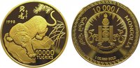 10000 Tugrik Gold 1998 Mongolei  Polierte Platte  2975,00 EUR kostenloser Versand