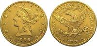 10 Dollars Gold 1906  D Vereinigte Staaten von Amerika  Fast vorzüglich  695,00 EUR kostenloser Versand